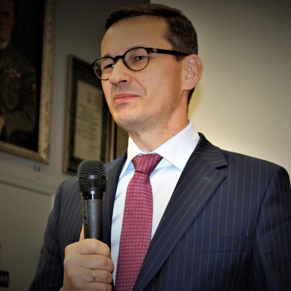 Mateusz Morawiecki w Instytucie Piłsudskiego. Foto Wojciech Maślanka