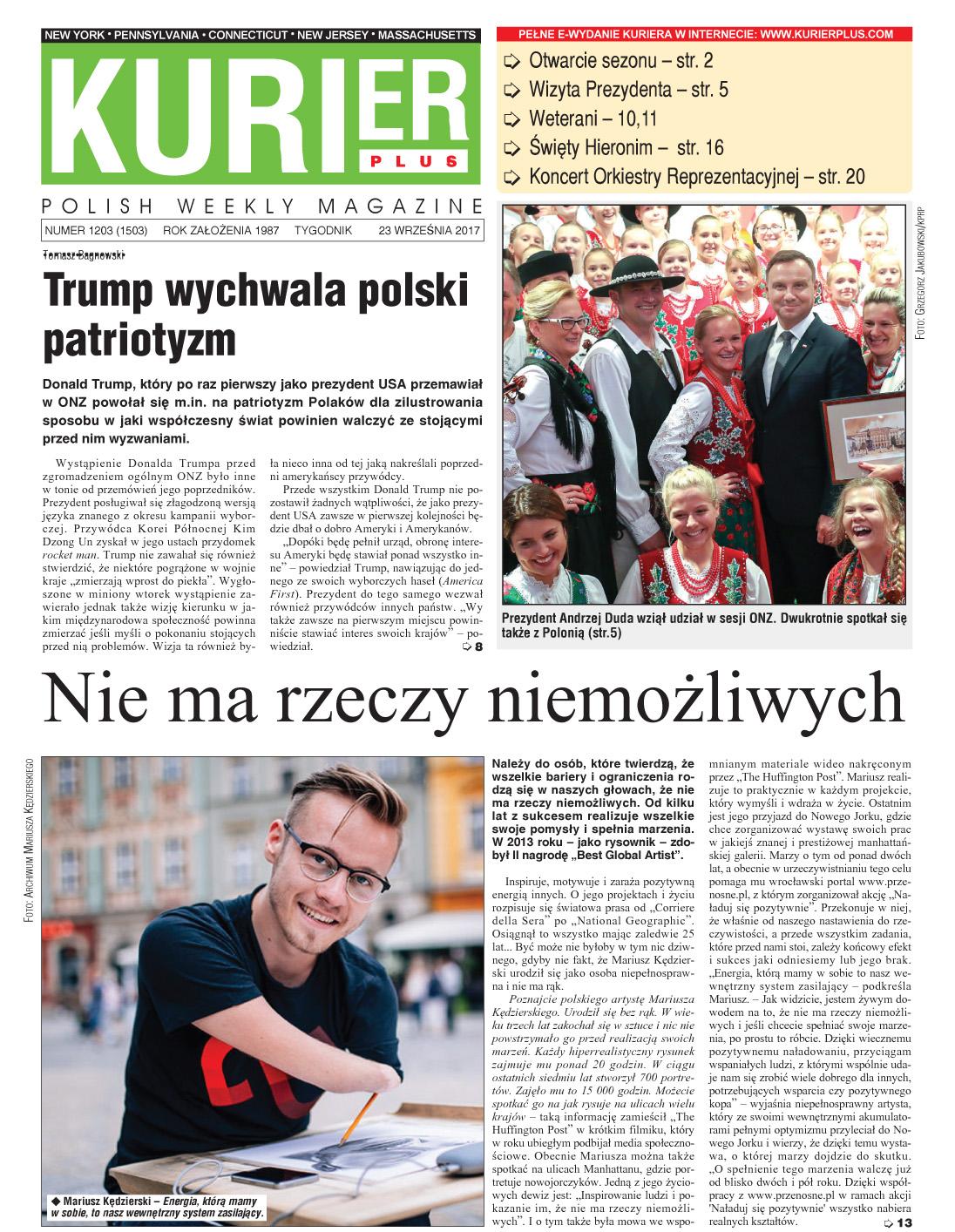 Kurier Plus - e-wydanie 23 września 2017